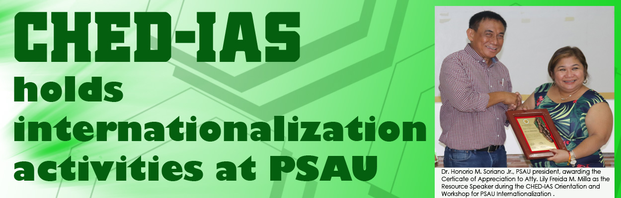 CHED-IAS holds Internationalization Orientation and Workshop at PSAU