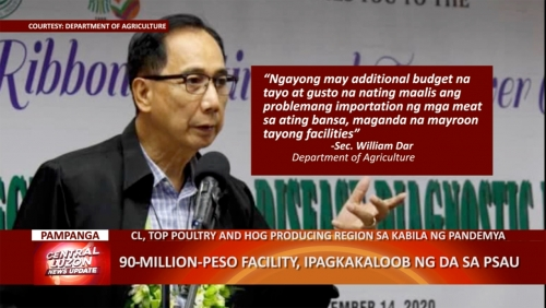 ₱90 Million Facility, Ipagkakaloob ng DA sa Pampanga State Agricultural University